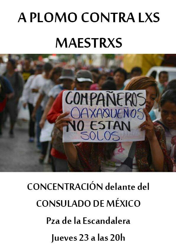 160623 concentracion oaxaca