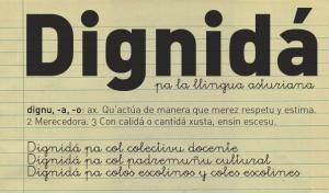 Dignidá pa la llingua asturiana