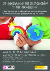 IV Jornadas de Educación y de Familias. Federación Estatal Lesbianas, Gais, Transexuales y Bisexuales