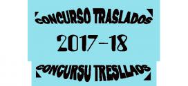 Adjudicación Definitiva – Concurso de Traslados 2017/18