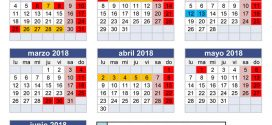 Calendariu escolar pal cursu 2017-2018